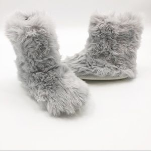 RH Baby & Child Luxe Faux Fur booties slippers